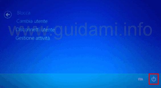 Schermata Blocca, Cambia, Disconnetti utente Gestione attività Windows 8