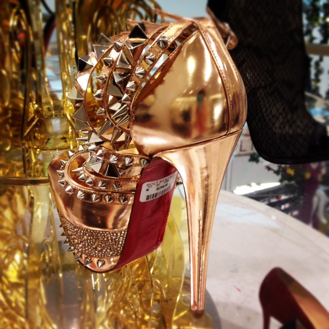 Christian Louboutin Isolde 160mm Nude Patent Leather Spiked Strappy Platform Pumps, strappy pumps, nude pumps