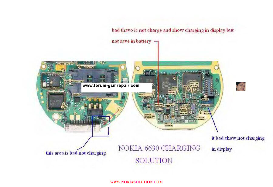Nokia 6630 100% tested Charging not supported Solution