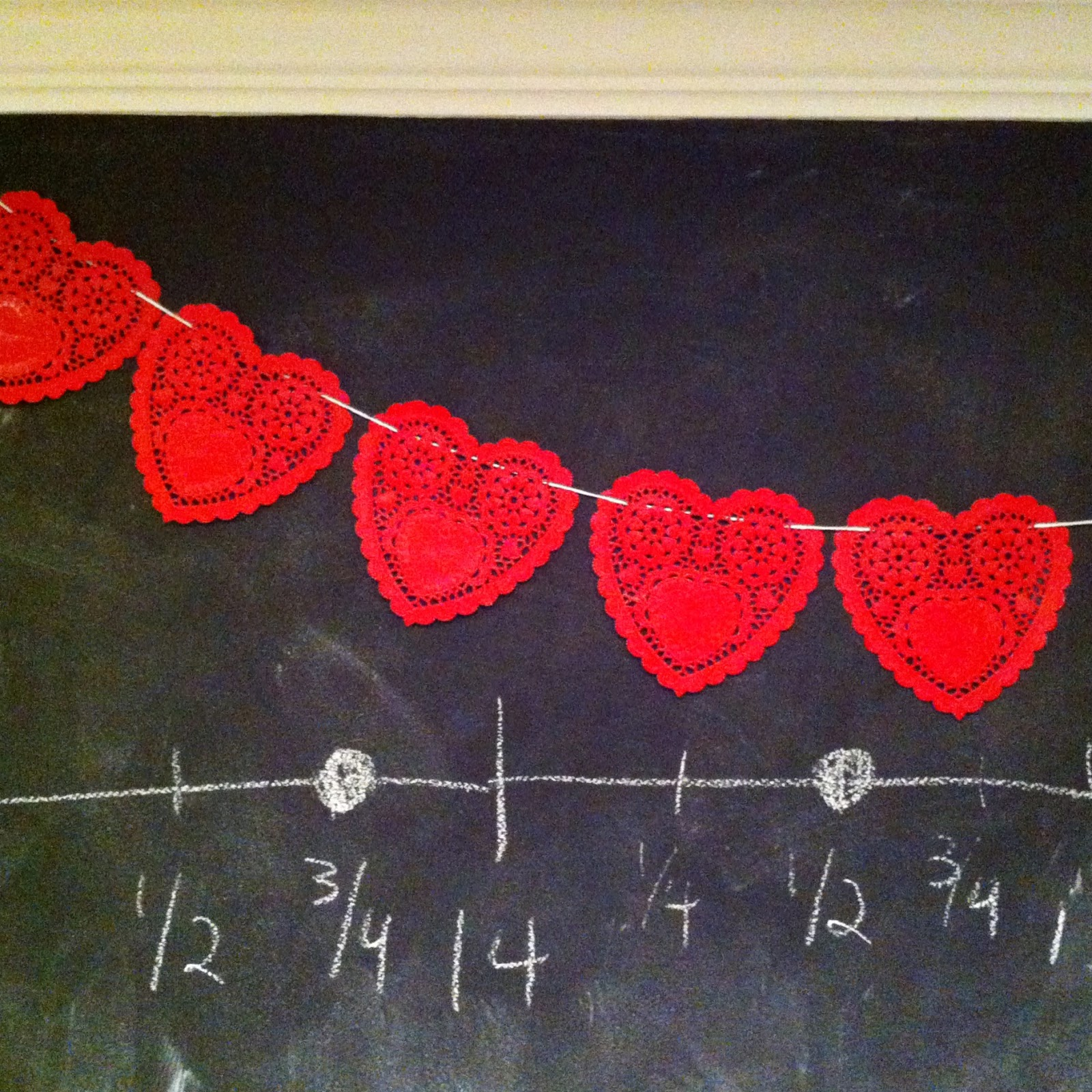 heart doily garland