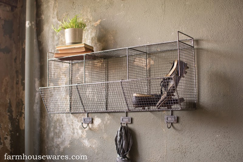 Pictures Wire Wall Storage Bin DRAWING ART GALLERY. Farmhouse Musings: I  Love The Vintage Locker Room Look