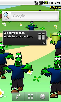 Android Live Wallpaper: Zombie Pop Lite