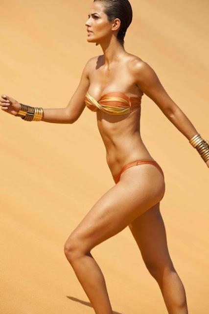 Michella Cruz in swimsuit