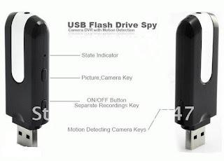 Spy Cam Flashdisk With Motion Detection/ Flashdisk Kamera dengan Sensor Gerak 5 MP
