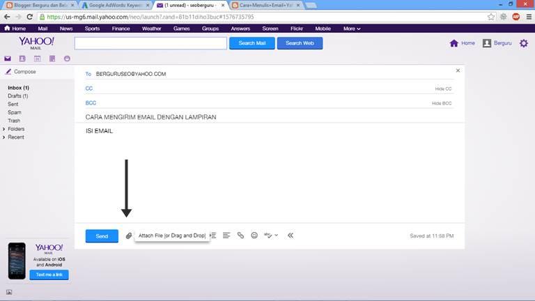 Cara Mengirim Email Lewat Yahoo dengan Lampiran 4
