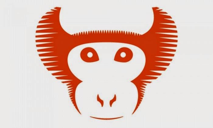 """O """"mascote"""" da versão (Vervet é uma espécie de macaco)"""