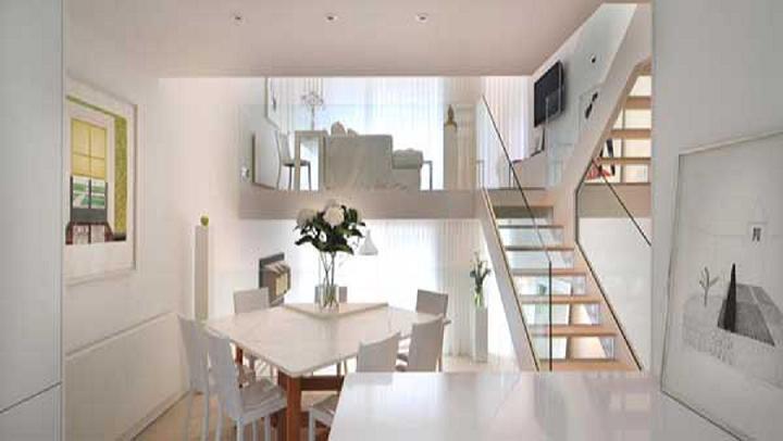 Apartamento en londres con interiores en blanco ideas for Estudios superiores de diseno de interiores