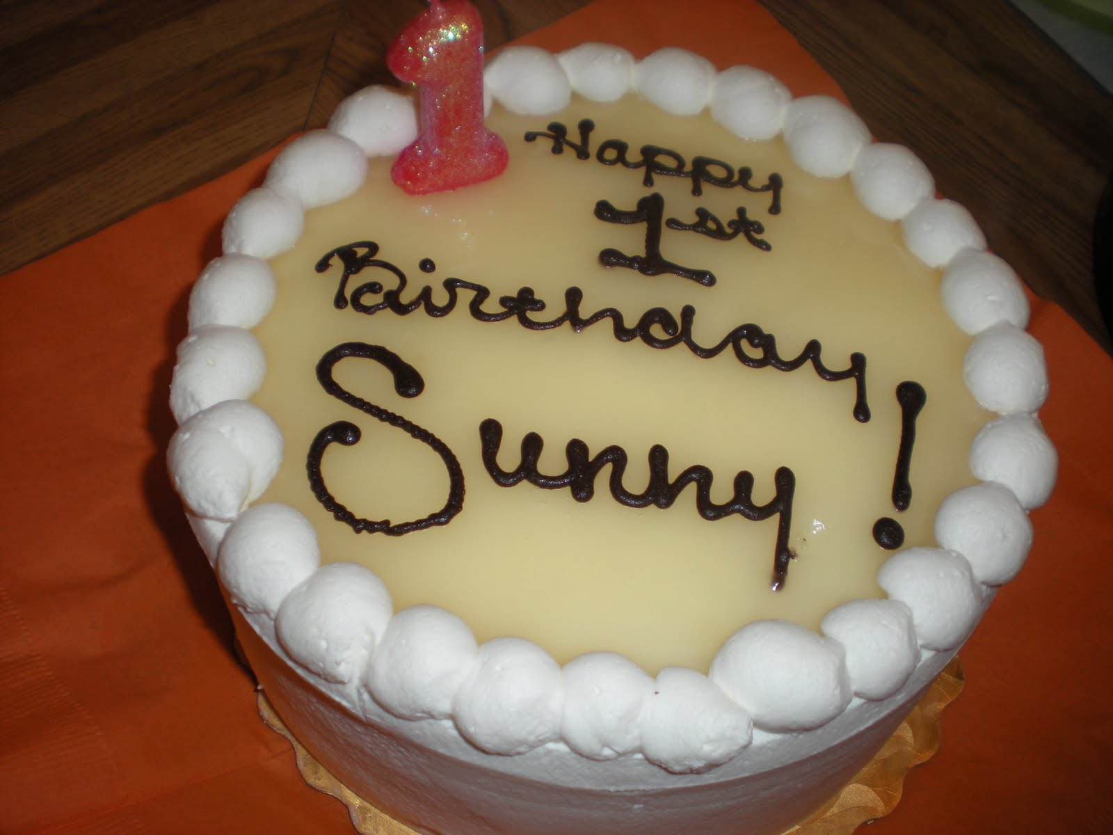 Birthday Cake Images With Name Sunny : Welcome to Team SuperP: Sunny s 1st Birthday