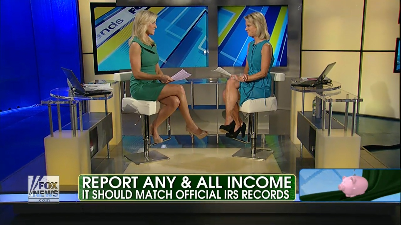 Wednesday: Gretchen Carlson caps @ Fox and Friends.