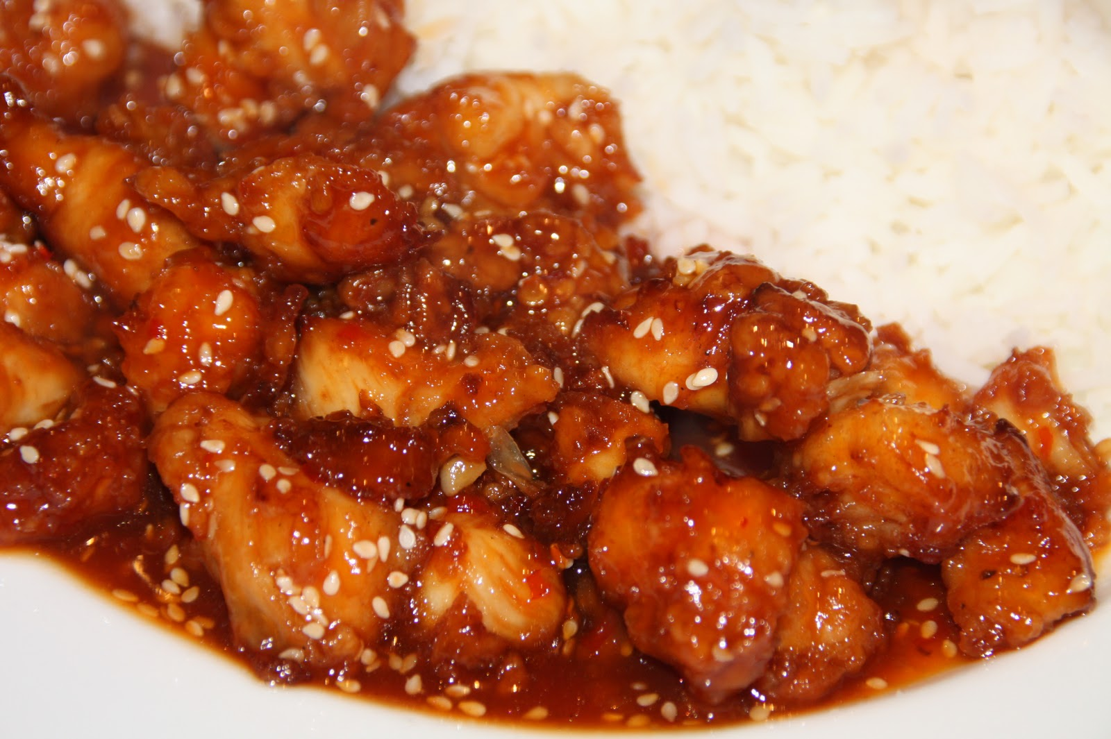 At Home with Mrs M!: Honey Sesame Chicken