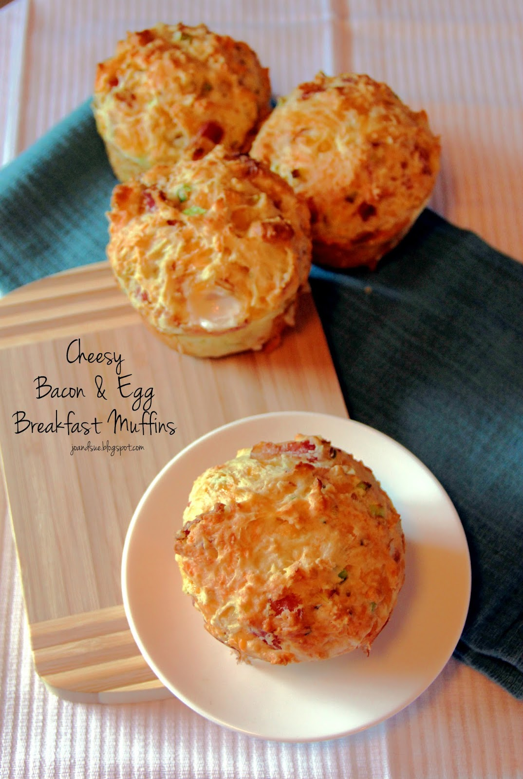 Jo and Sue: Cheesy Bacon & Egg Breakfast Muffins