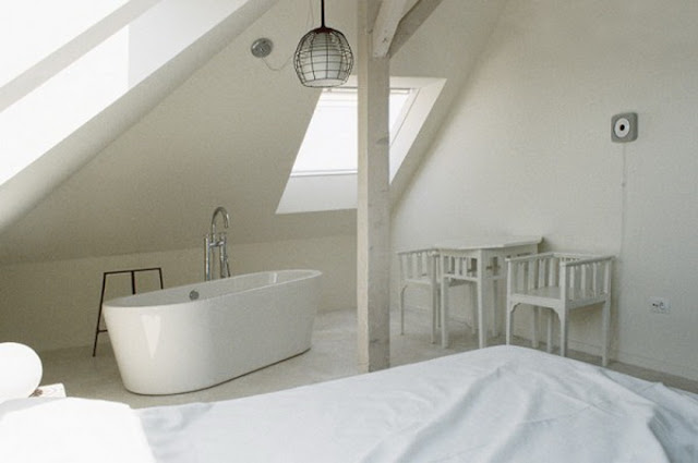 Дизайн ванной комнаты совмещенный с спальней