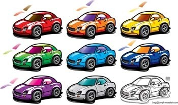52 Free Cars Vector Art Icons Set Download