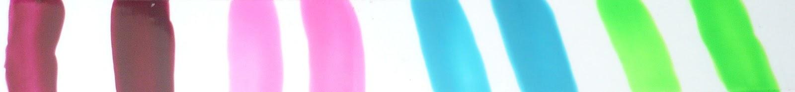 Esmaltes Vogue neón, Pastel, Zafiro, Limón, Rojo cereza 37, opiniones swatch review