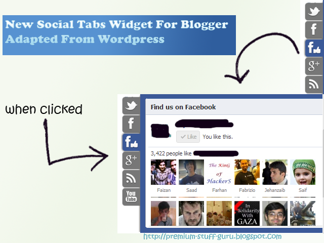 New Floating Social Tabs Widget For Blogger Adapted From Wordpress