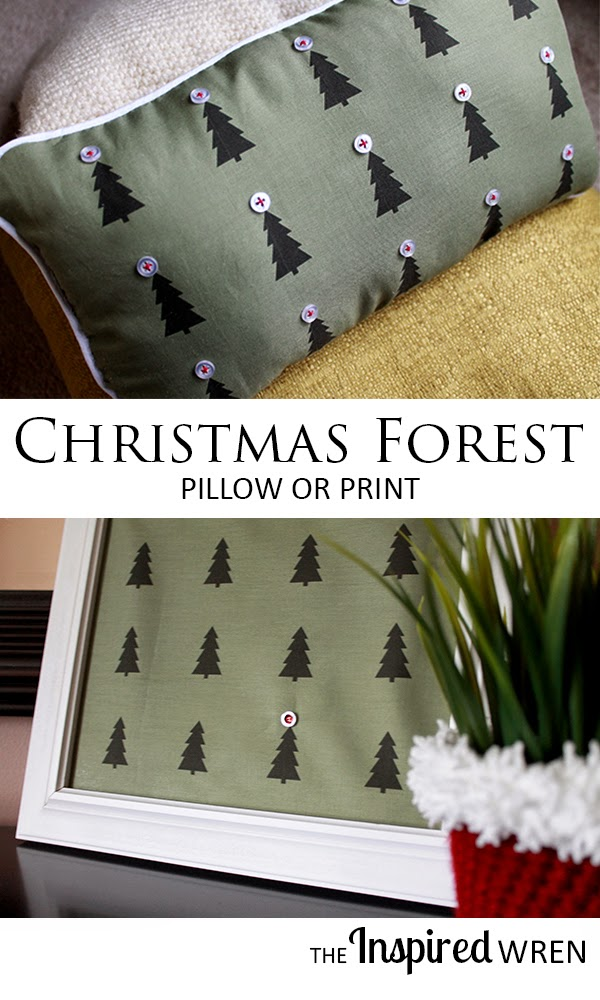 Great tutorial for Christmas Forest print -- it's ink-jet printed fabric | The Inspired Wren