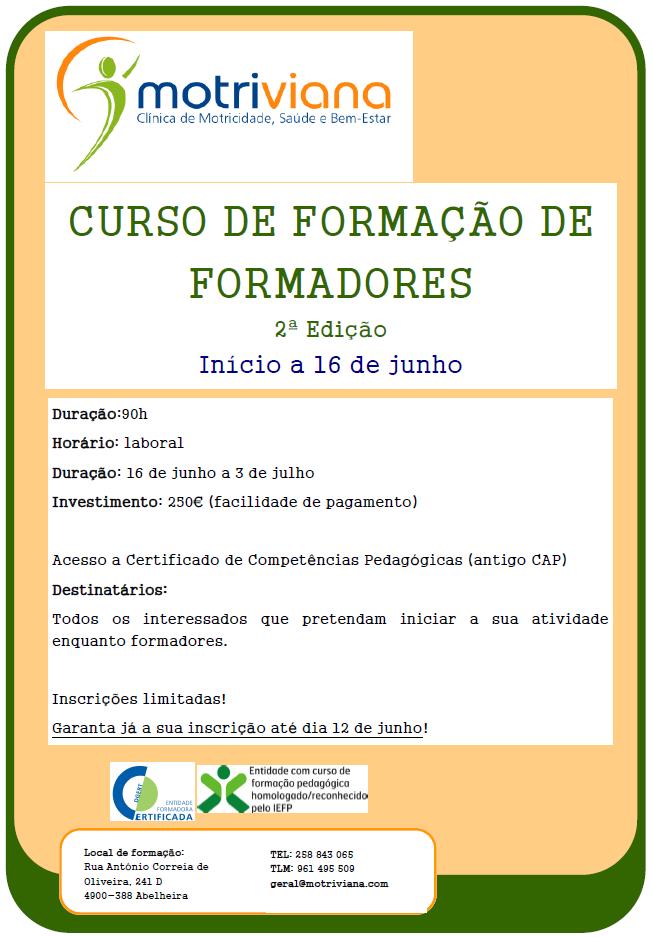 curso de formação de formadores CCP Viana do Castelo