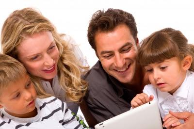 NAMC Montessori classroom computer applications family using tablet app