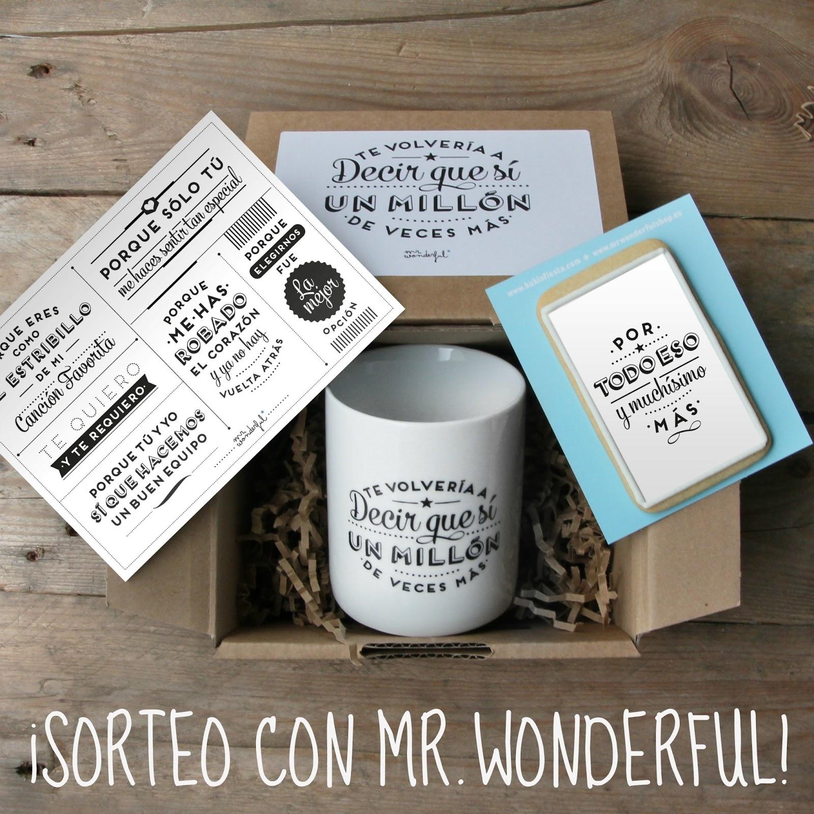 FINALIZADO*** SORTEO Mr. Wonderful: Kit de Aniversario + Lámina