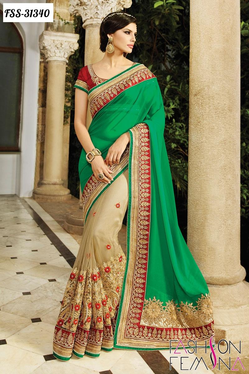 Fashion femina latest indian wedding special ethnic for Luxury online shopping