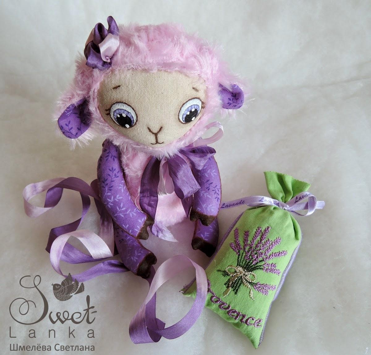 розовая овечка, овечка символ 2015 года
