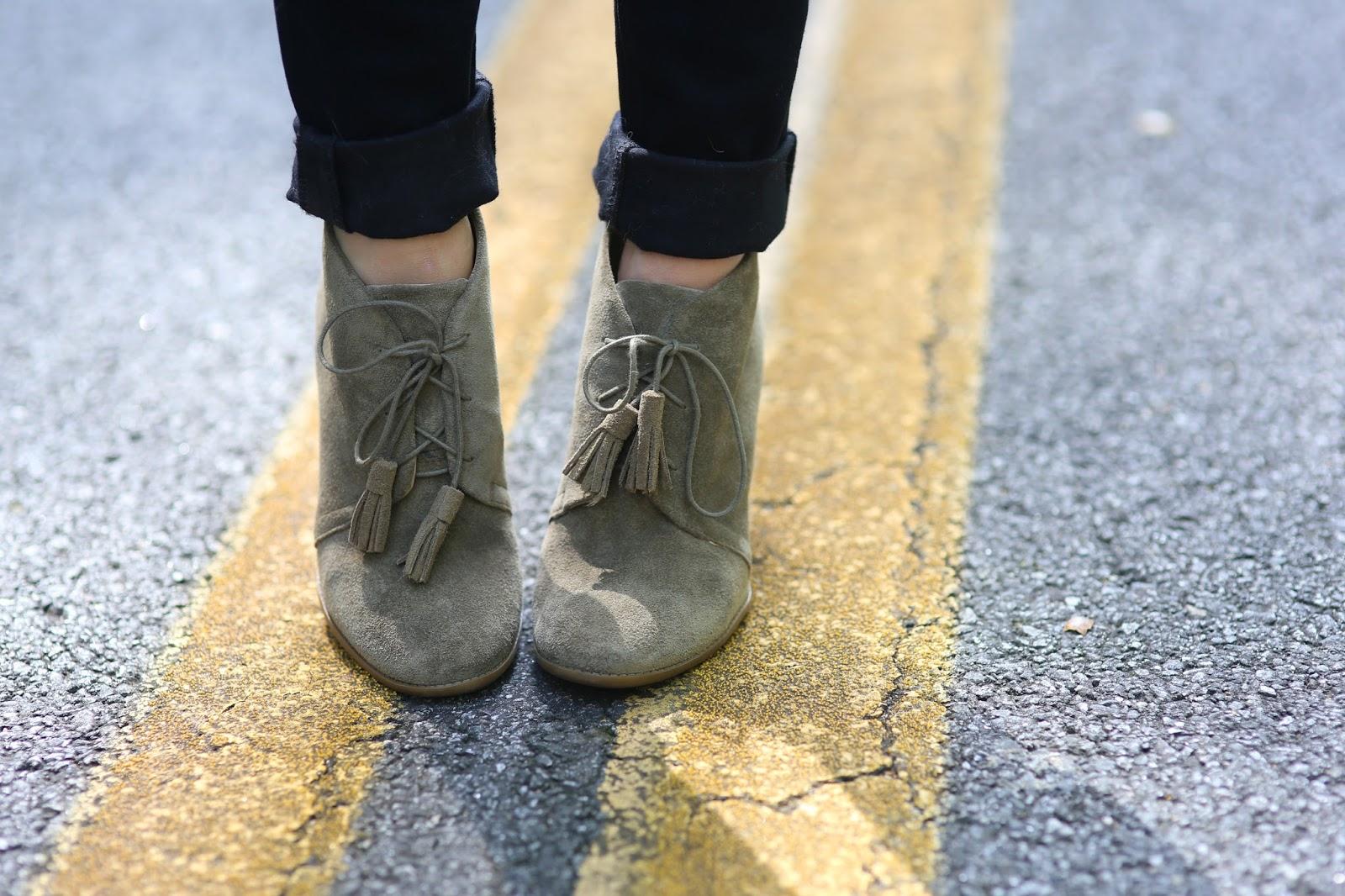 Tassel booties