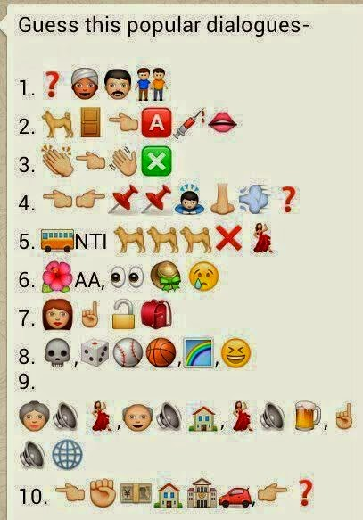 Guess the popular dialogues in Symbols game