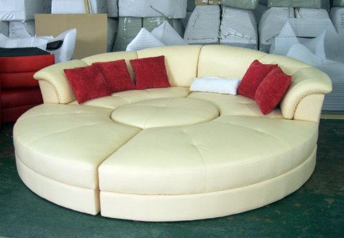 Yellow Leather Sectional Sofa