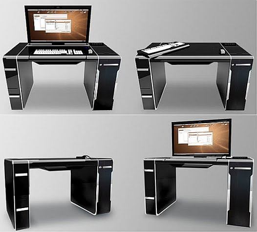 15 creative desks and cool desk designs. Black Bedroom Furniture Sets. Home Design Ideas
