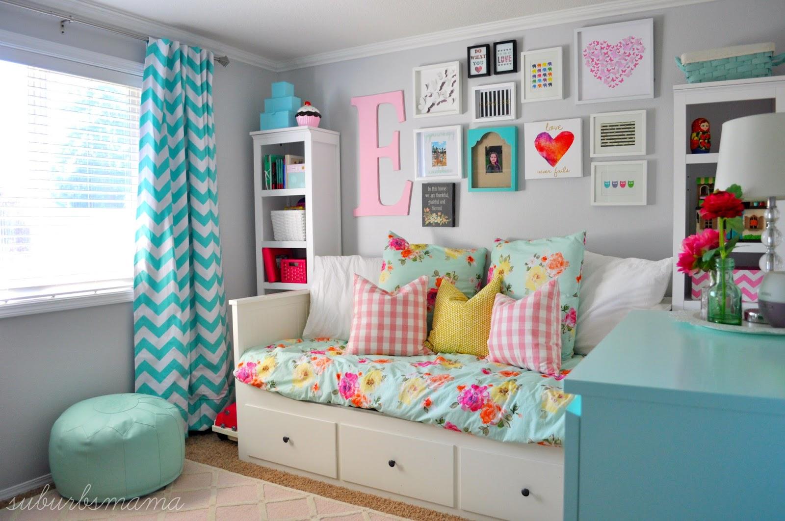 Suburbs mama big girl room for Bedroom design inspiration gallery