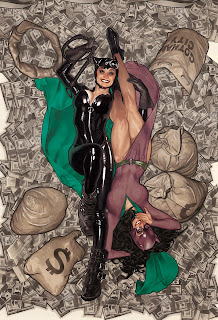 Convergence #0 Catwoman variant cover by Adam Hughes