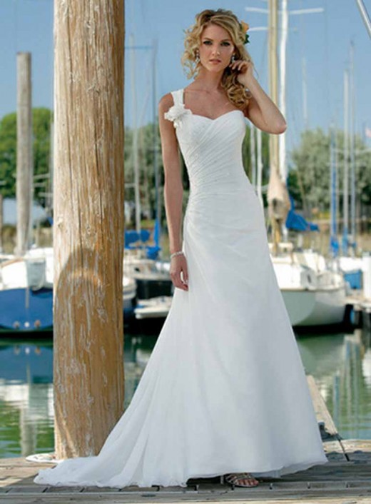 Beautiful beach wedding dresses summer 2012 for Wedding dresses for 2nd marriage on the beach