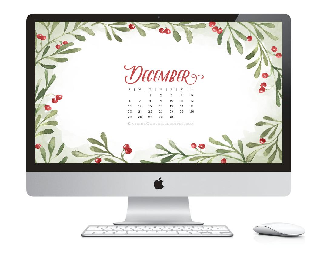 Desktop Calendar Design Examples : Katrina crouch — blushed design december desktop calendar