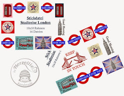 Stickdateiserie Stadtreise London
