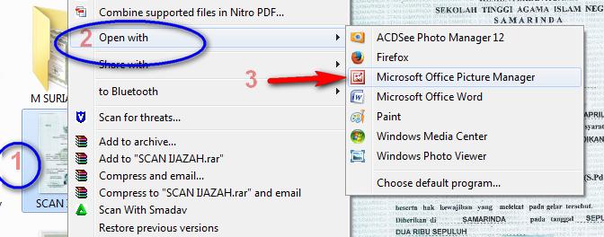 cara sangat mudah mengatur, mengurangi, menambah ukuran memori gambar, mengatur resolusi gambar dengan Microsoft office Picture Manager. resize image png jpeg jpg gif