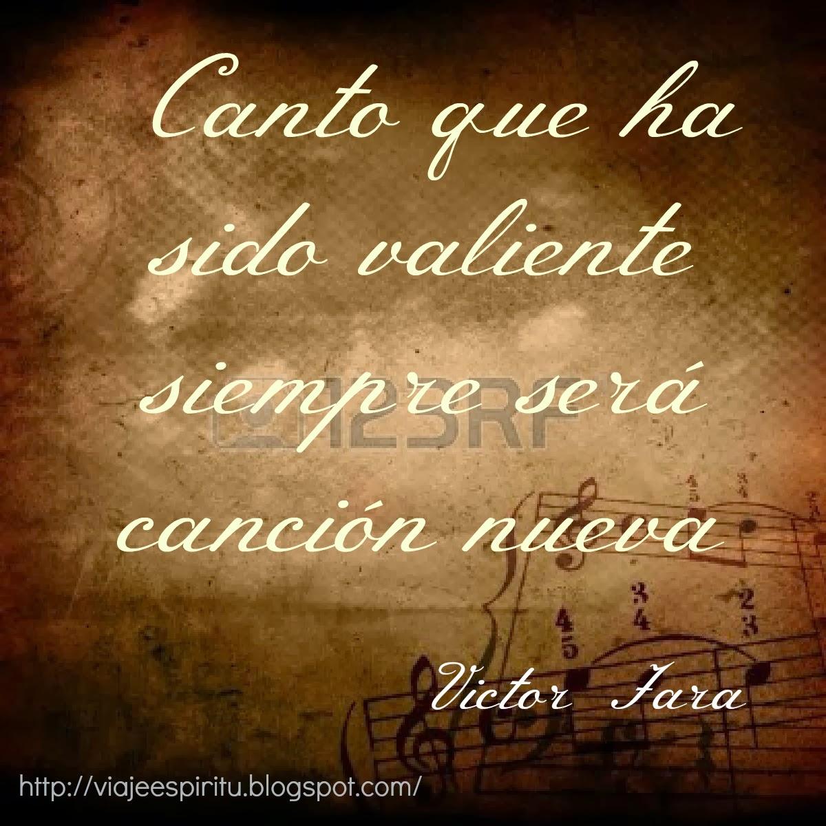 Victor Jara, Manifiesto