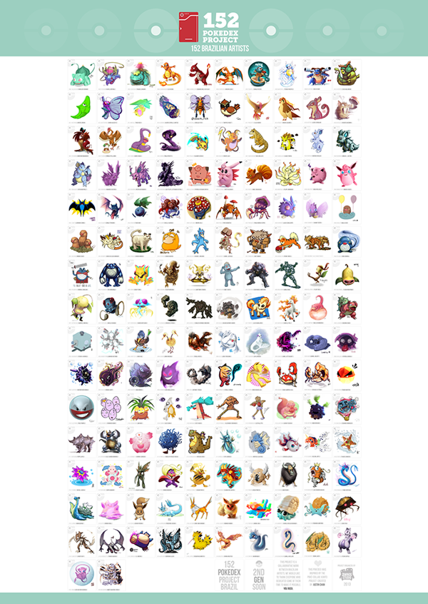 151 originals pokeomn 152 pokemon brazilian artists