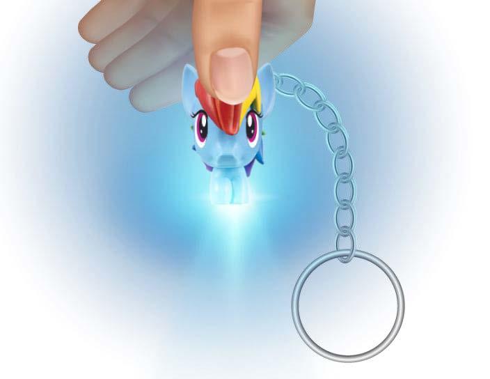 MLP Spot Lite Micro Lite Rainbow Dash Keychain