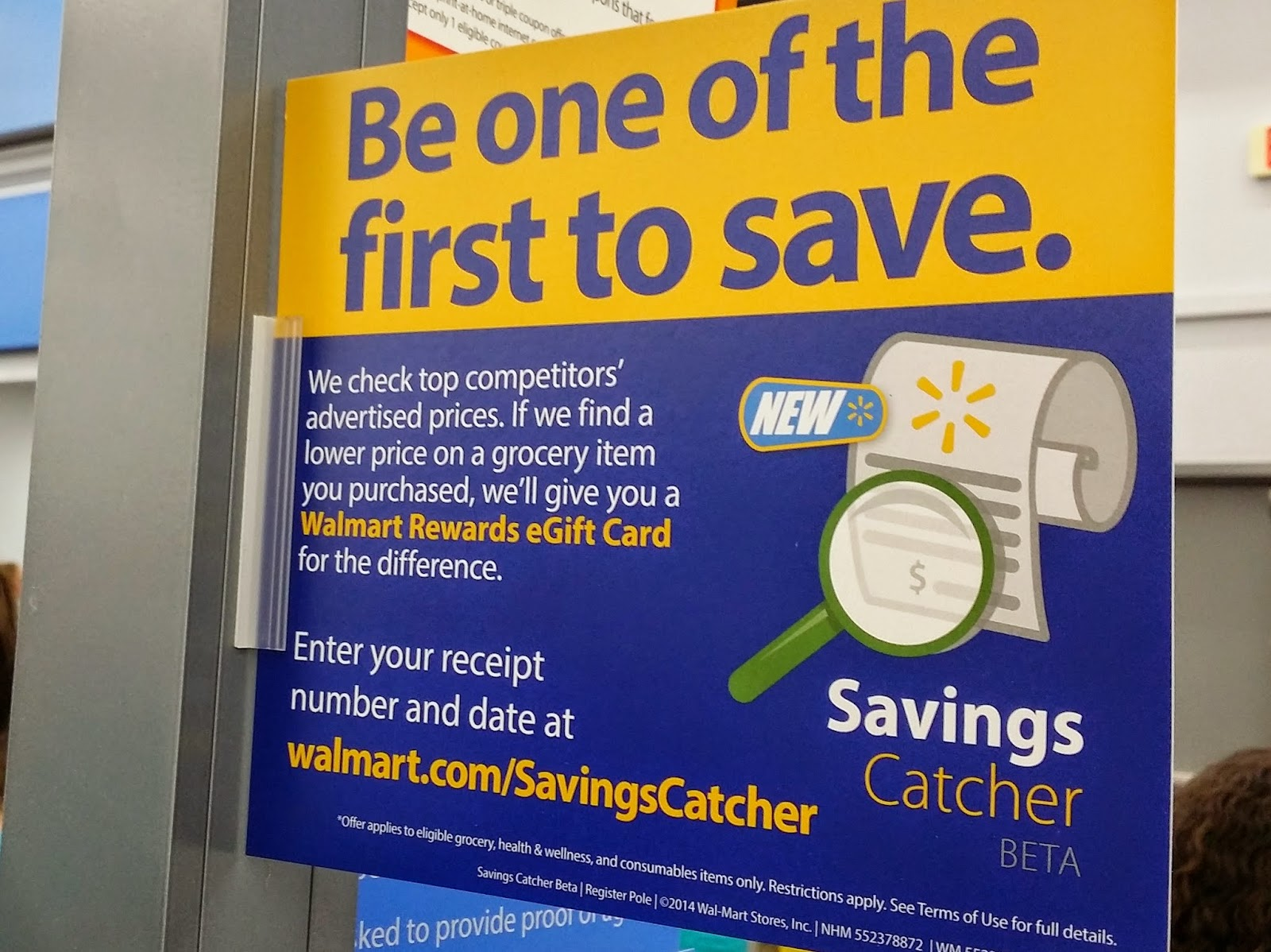 Tool at the walmart savings catcher page and headed off to walmart