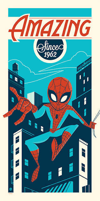 "Dark Ink Art Marvel Screen Prints - ""Amazing Since 1962"" Spider-Man Print by Dave Perillo"