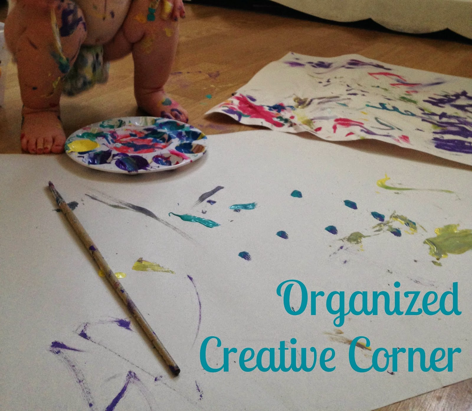 Organize a Creative Corner for your creative kids :: OrganizingMadeFun.com