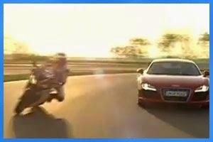 Audi R8 vs. Honda Fireblade