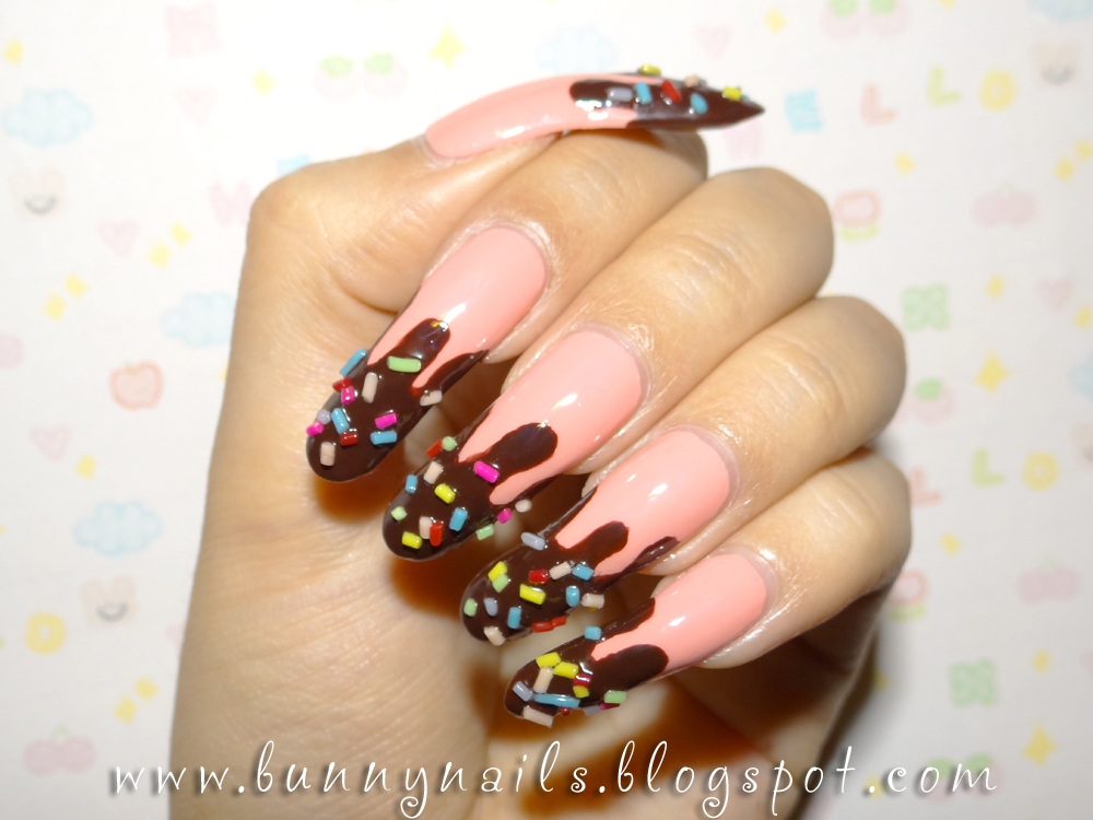 Chocolate Dipped W Candy Nail Art How To