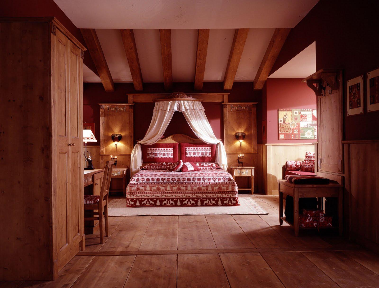 Montagna Chic: camera da letto con baldacchino