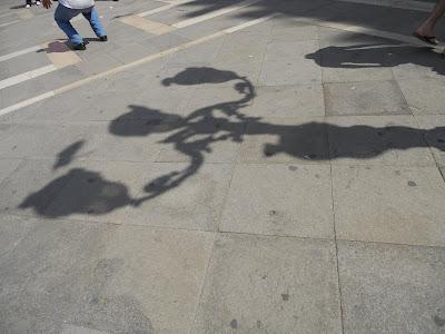 lamp pigeon shadow