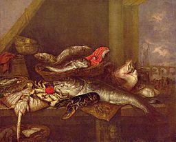 Fischbank - a famous painting by Abraham van Beijeren