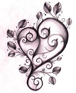 K Heart Tattoo graffiti-bridge: Tattoo Designs Hearts