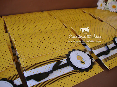 Convite Infantil Abelhinha Amarelo