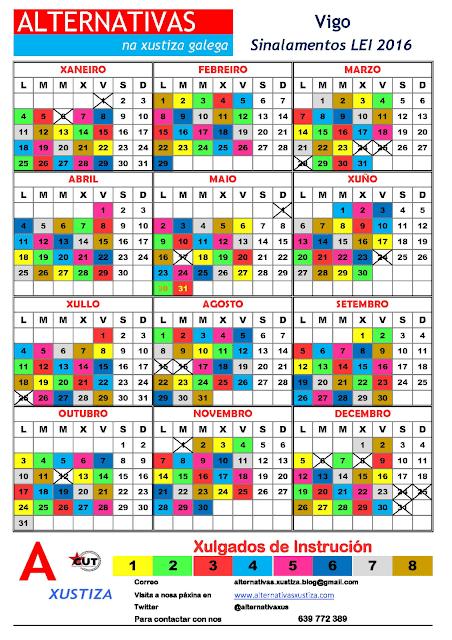 Vigo. Calendario gardas sinalamentos faltas 2016