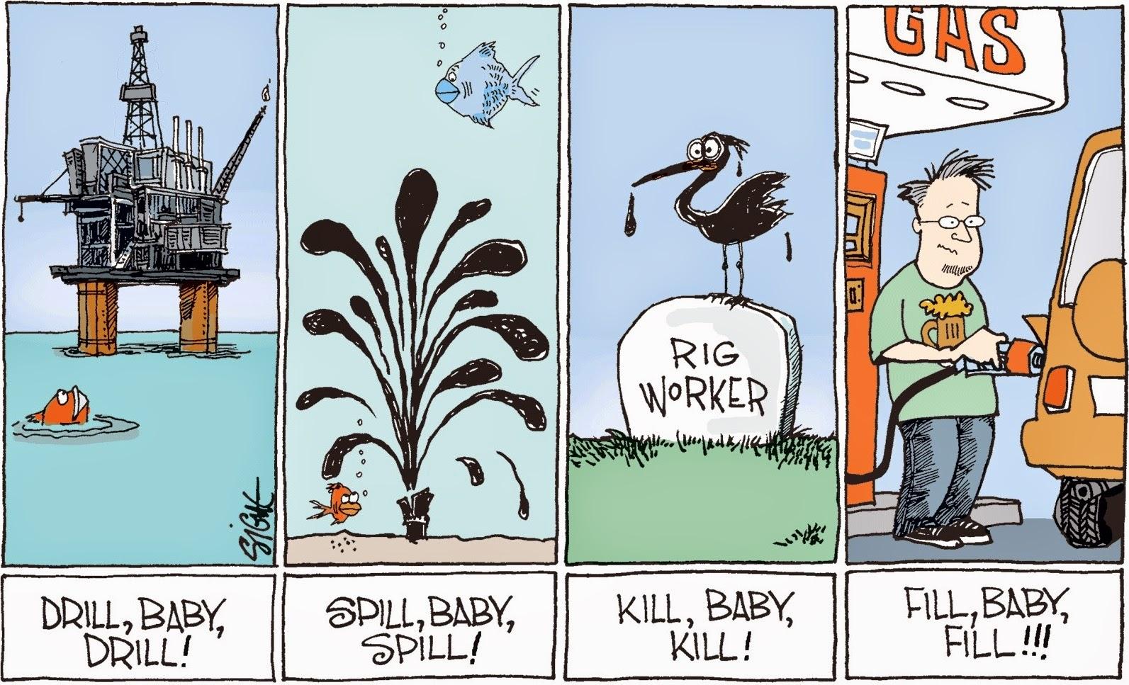 Signe Wilkinson: Fill, Baby, Fill!!!